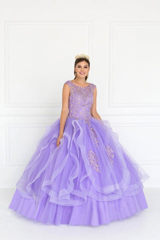 Red quinceanera princess dress gls 2206