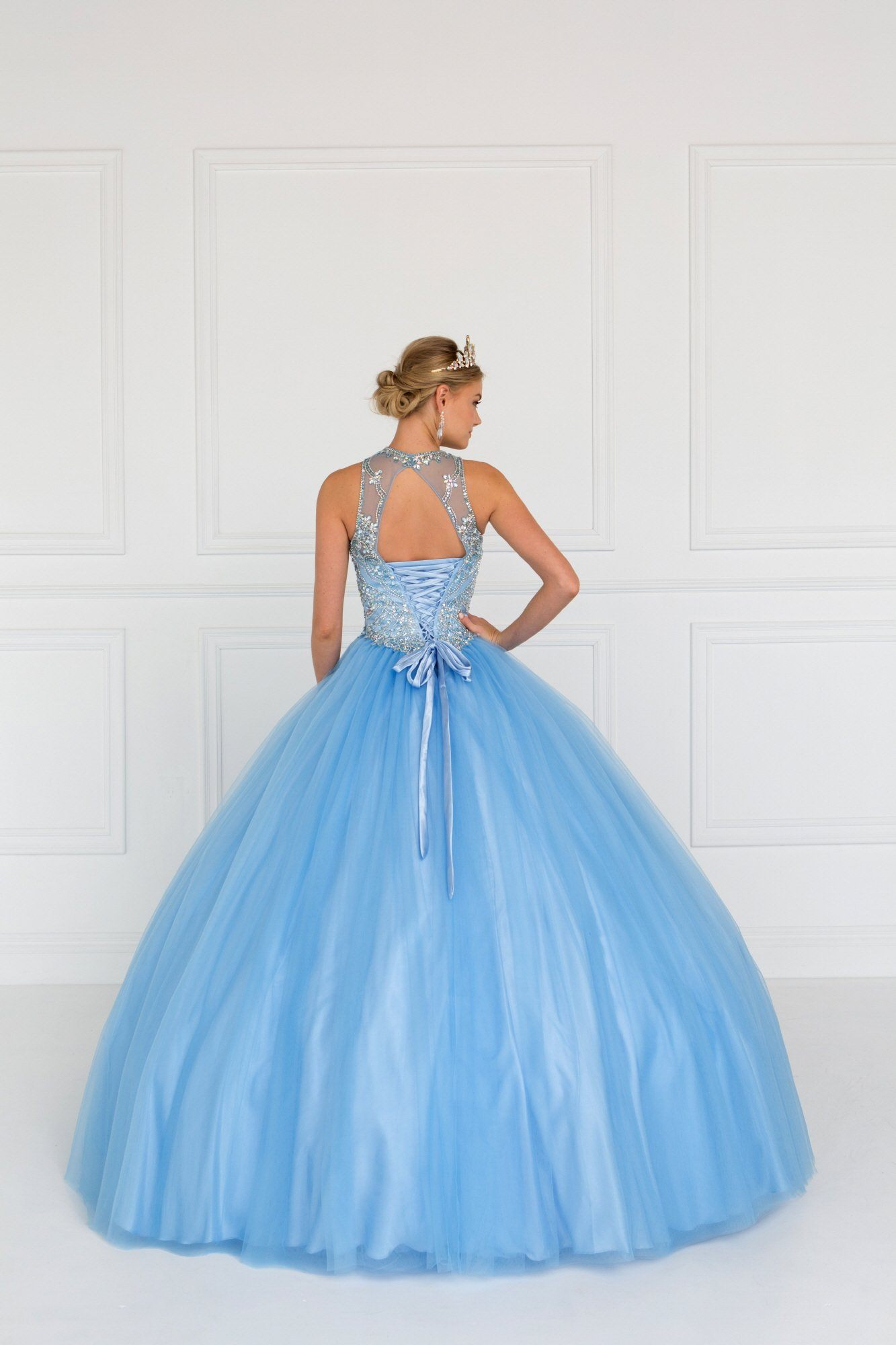 High neck ball gown Princess Prom dress GLS 1558 – Simply Fab Dress