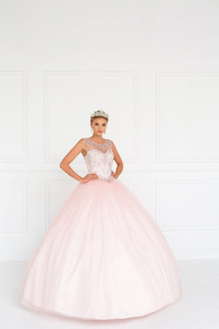 Dusty Pink Quinceanera Dress  DQ 1101