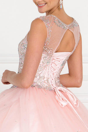 Cinderella pink quinceanera dress GLS 1559P-Simply Fab Dress