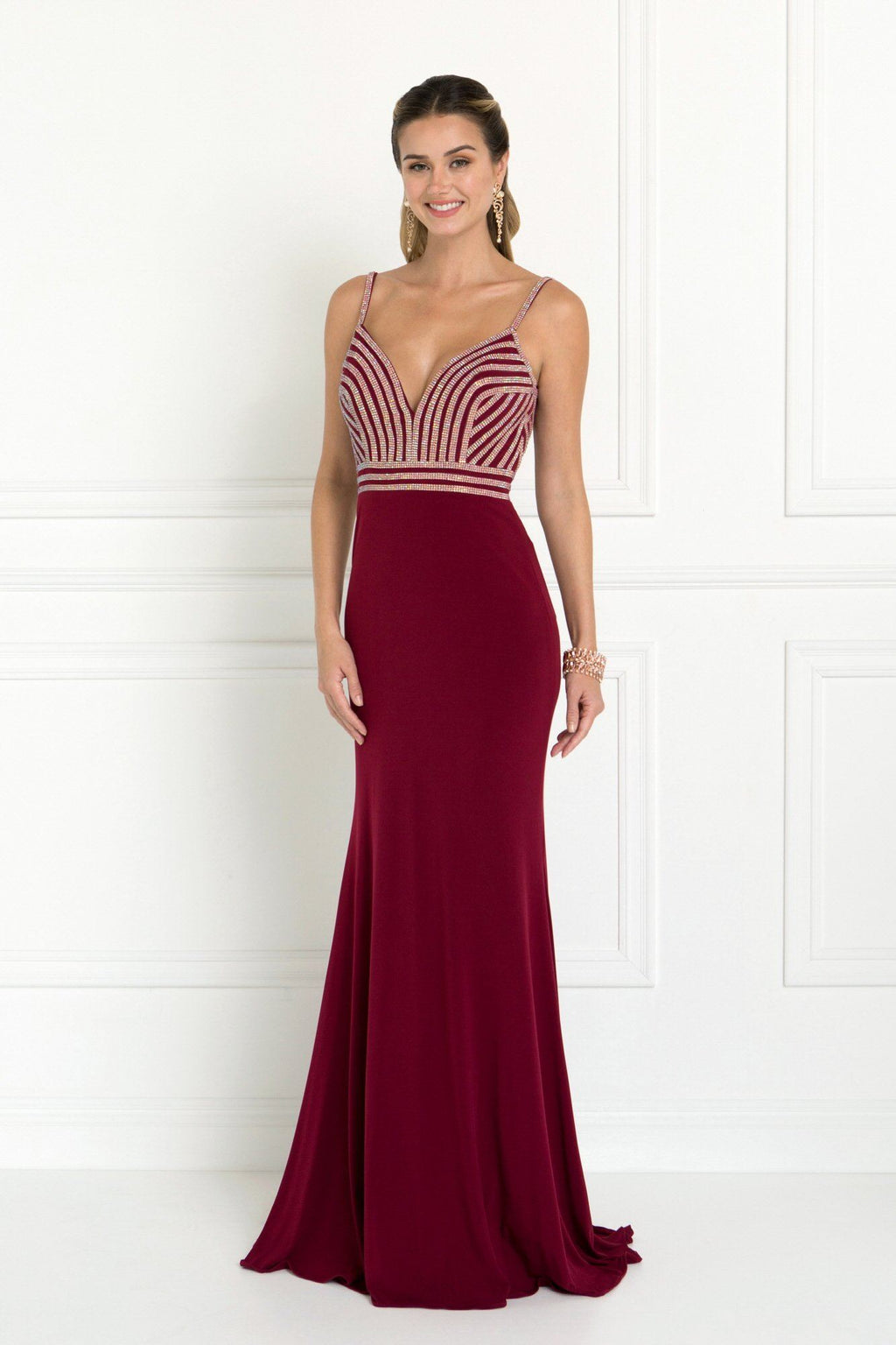 Long sexy red formal dress Gls 1562-Simply Fab Dress