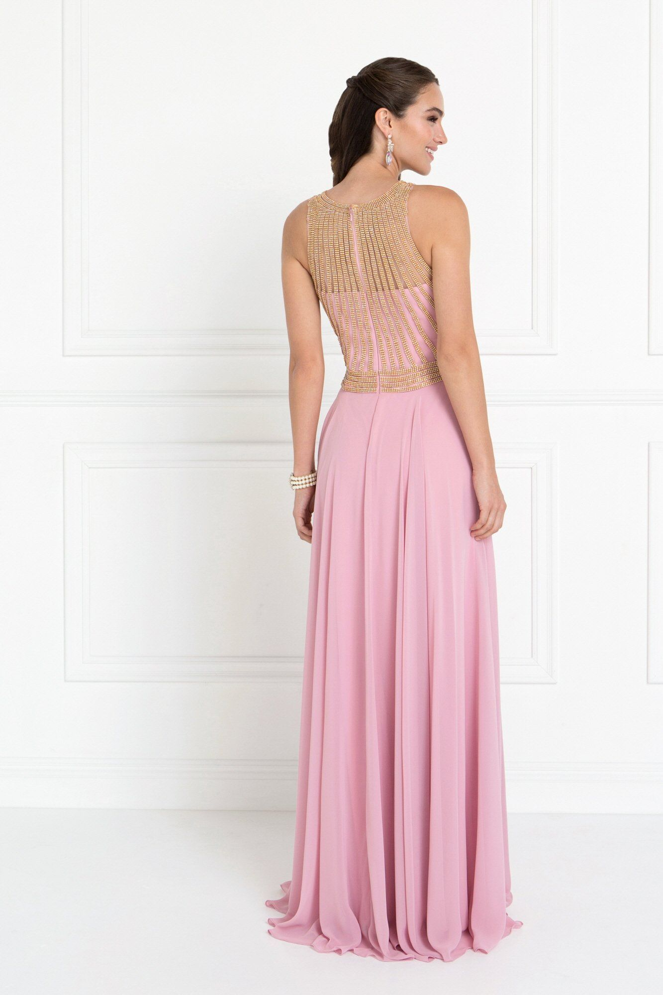 High neck sparkly Prom dress – Simply Fab Dress