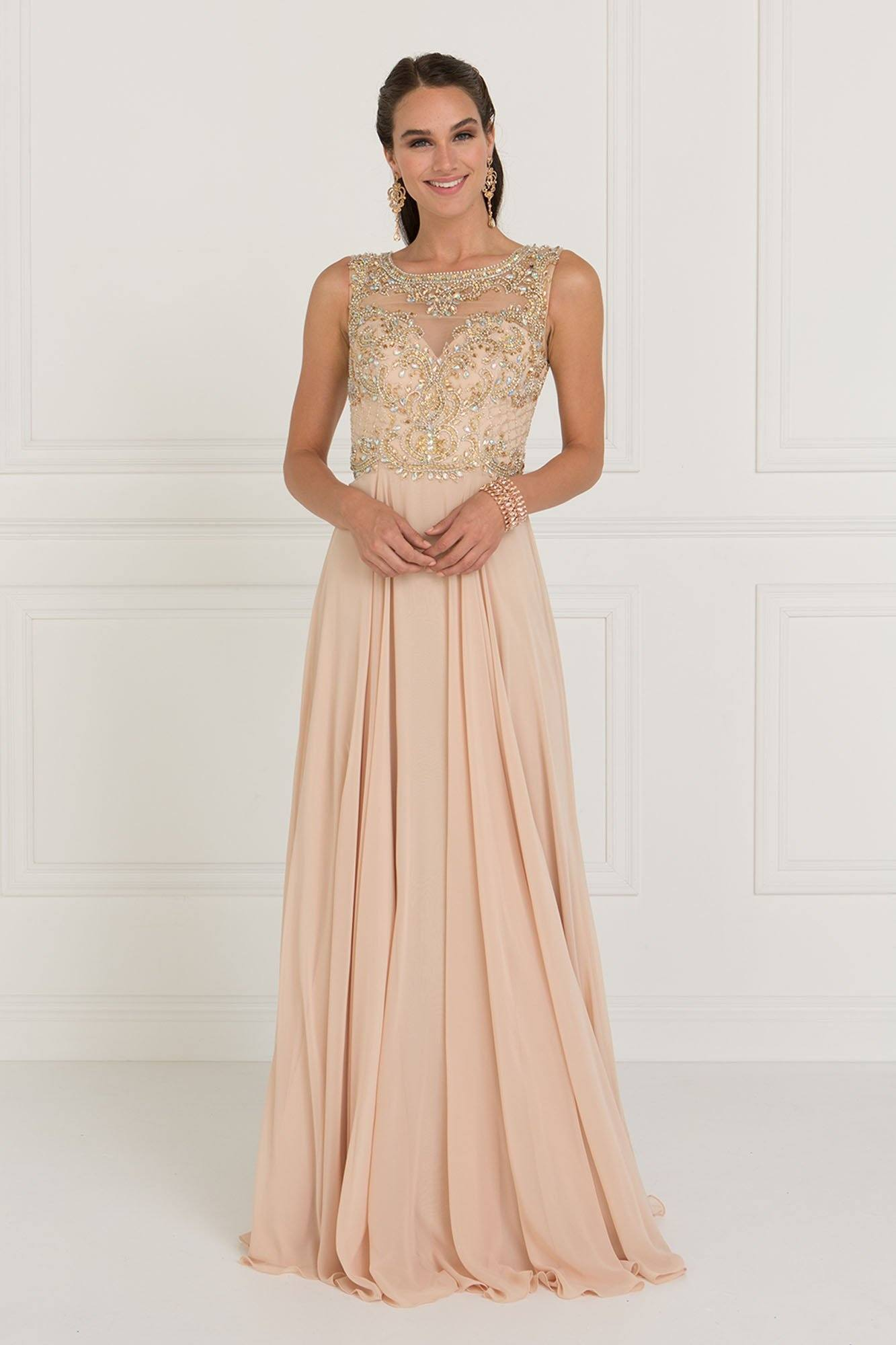 Elegant prom dress & evening gown GLS 1565C-Simply Fab Dress
