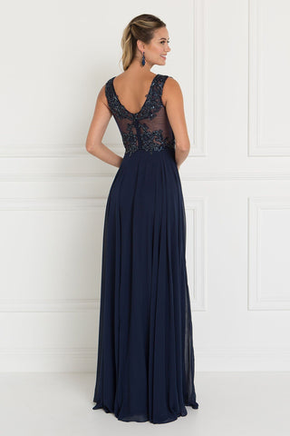 Sparkly Navy prom dress GLS 1566-Simply Fab Dress