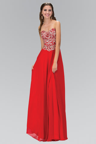 Beaded sweetheart neckline long chiffon formal dress GL2018 - Simply Fab Dress