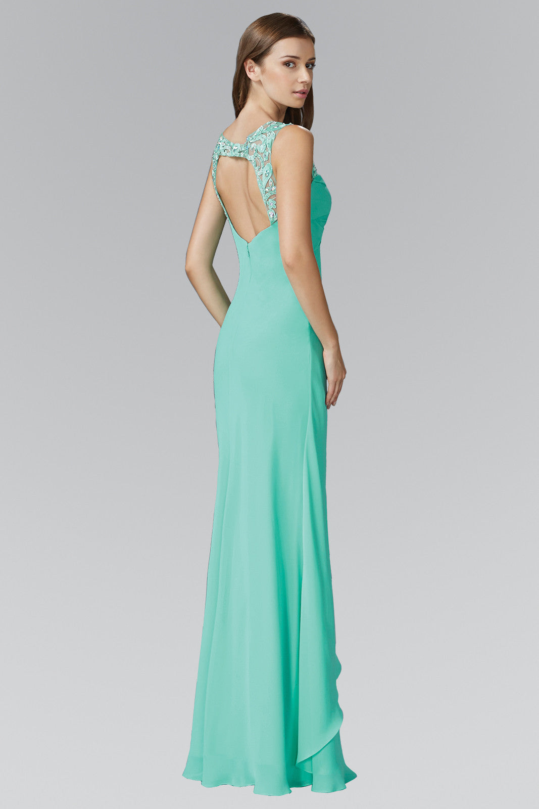 Empire waist long bridesmaid dress GL2061