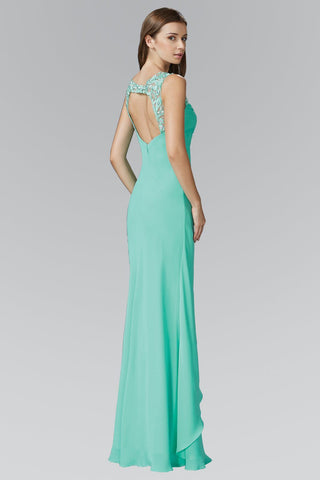 Affordable Tiffany blue long chiffon bridesmaid dress - Simply Fab Dress