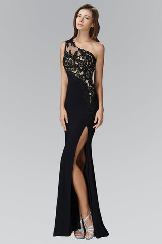 26745dbc56 Sexy one strap fitted prom dress with high slit 103 GL2066 - Simply Fab  Dress