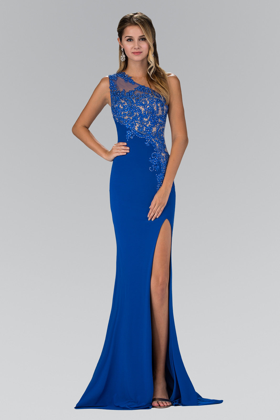 347e36602d6 Sexy one strap fitted prom dress with high slit 103#GL2066 - Simply Fab  Dress ...