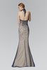 Sparkling beaded high neckline mermaid formal dress GL2147 - Simply Fab Dress