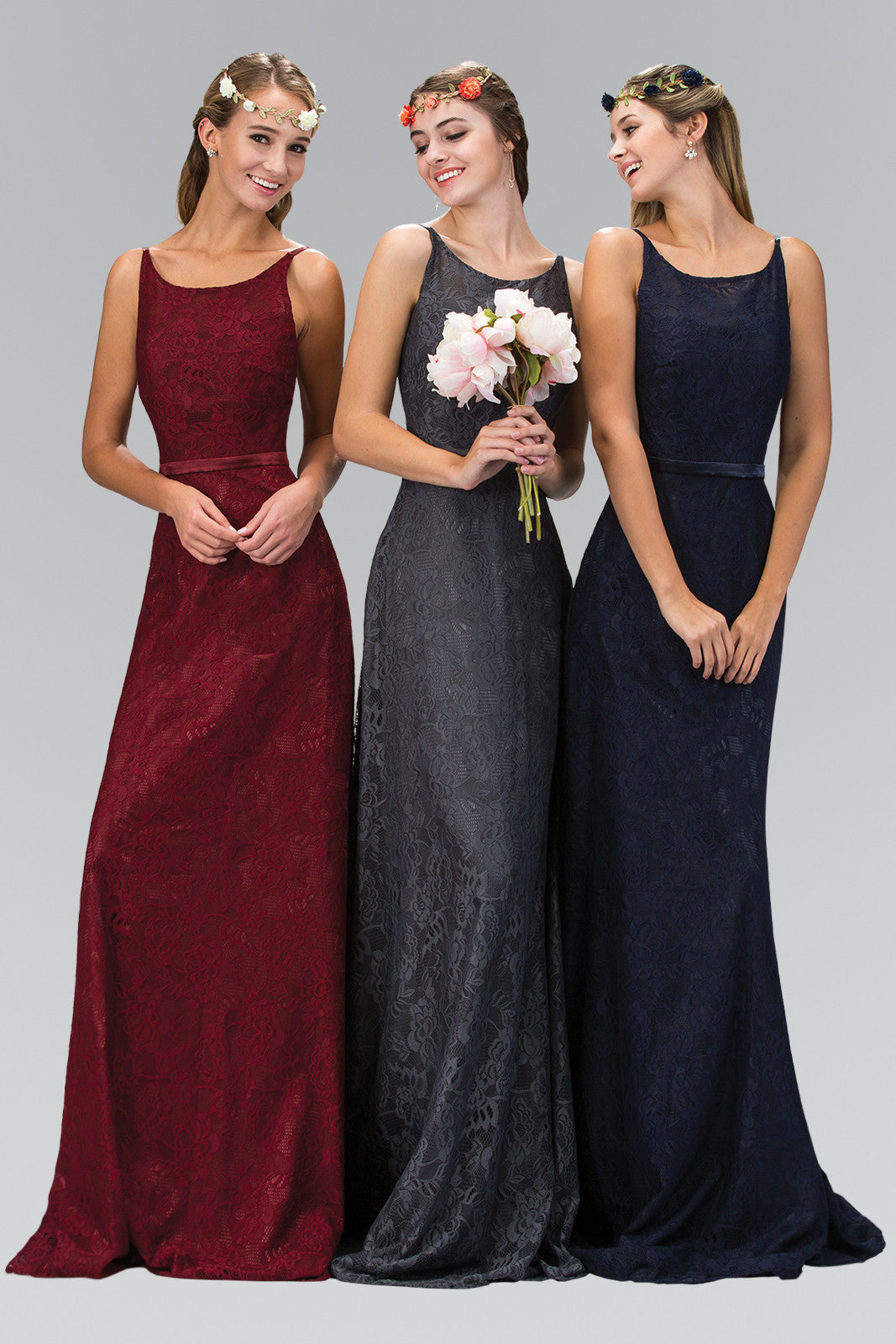 Affordable bridesmaid dresses long chiffon dresses simply fab lovely scoop neckline lace bridesmaid dress gl2170sku fabgl2170lovely scoop neckline lace bridesmaid dress accented with thin satin belt at the waist ombrellifo Choice Image