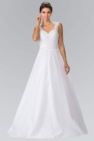Sweetheart neckline tulle a-line ball gown wedding dress gl2202 - Simply Fab Dress