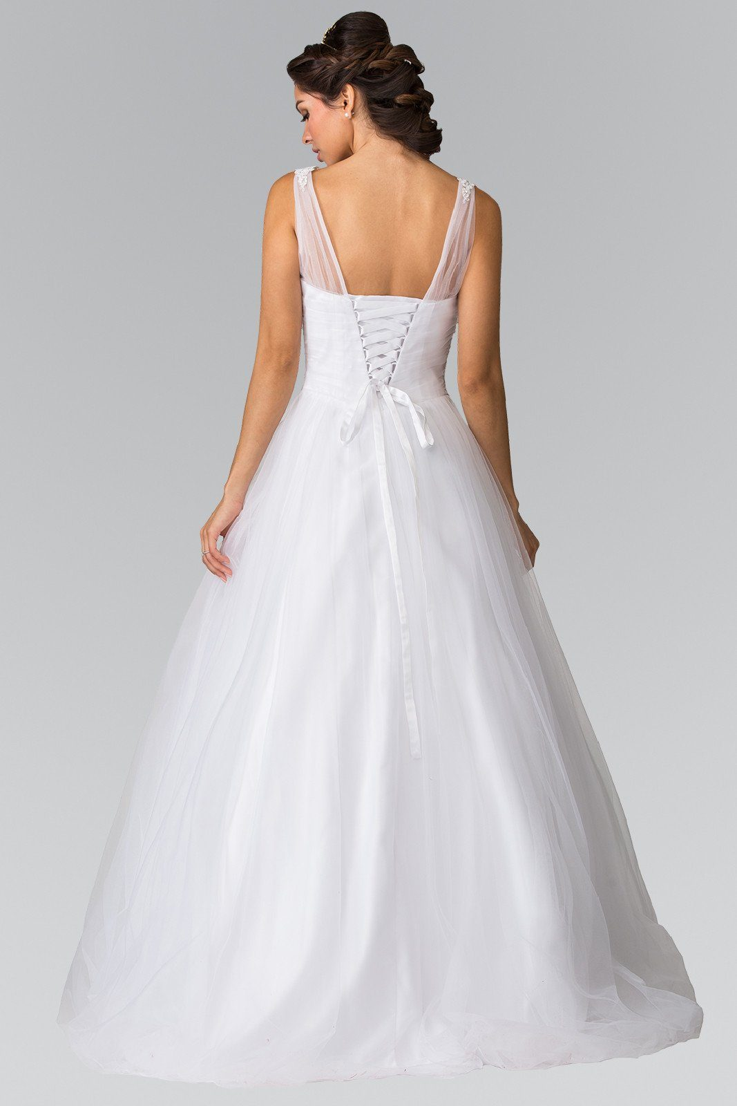 Simple Sweetheart Neckline Tulle Aline Ball Gown Wedding Dress Gl Simply Fab With A Line