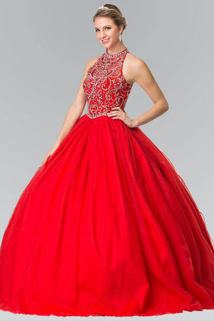 Red quinceanera princess dress gls 2206-Simply Fab Dress