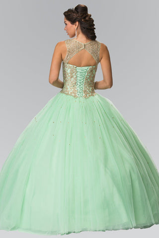 Puffy quinceanera mint green dress gls 2207-Simply Fab Dress