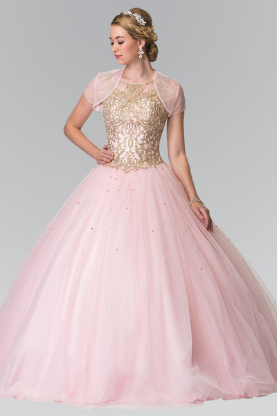 0ecd9074c91 Pink quinceanera dress with puffy ruffle skirt gls 2207-Simply Fab Dress.  Touch to zoom