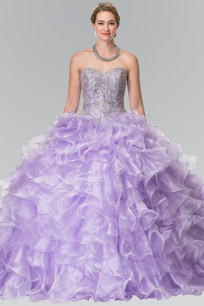 Puffy quinceanera dress with ruffles gls 2209-Simply Fab Dress