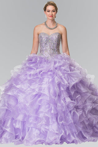 High neck ball gown Princess Prom dress GLS 1558