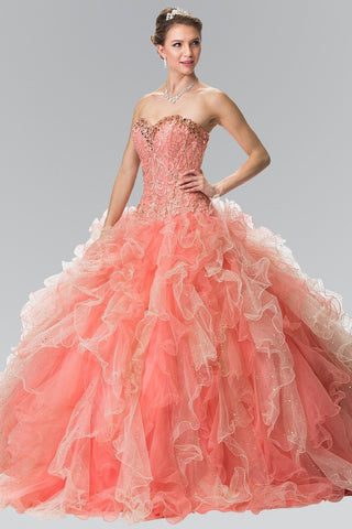 Beaded sweetheart neckline quinceanrena dress #gl2210 - Simply Fab Dress