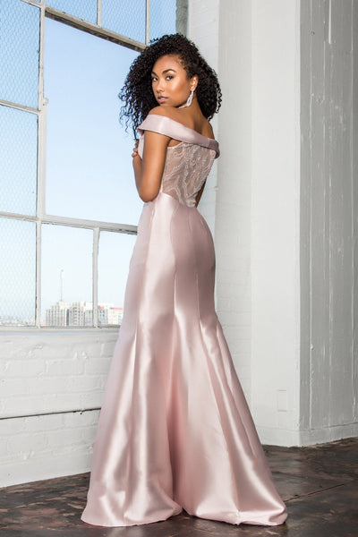 Elegant Satin Mermaid Dress gl2213