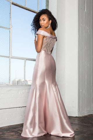 2 piece long sleeve prom dress dq9950