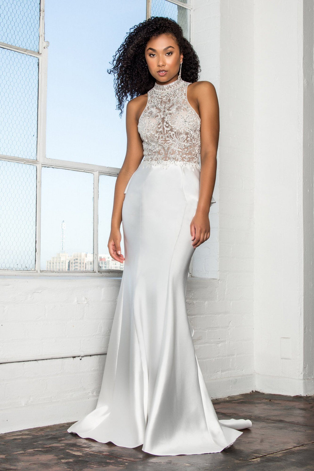White  mermaid Prom Dress #gl2227