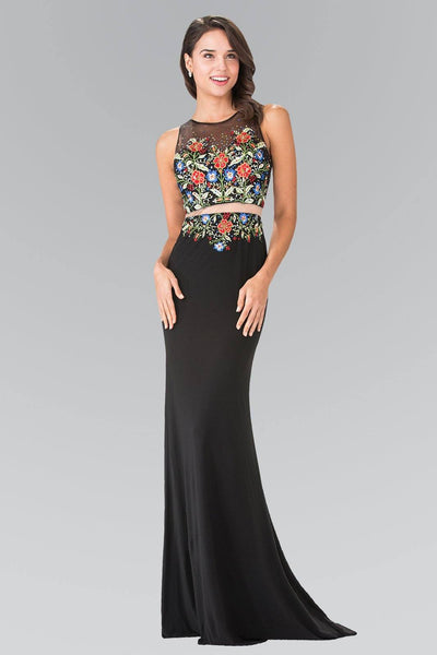 Long 2 piece floral prom dress gl2241-Simply Fab Dress