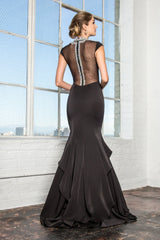High neck mermaid prom dress #gl2242