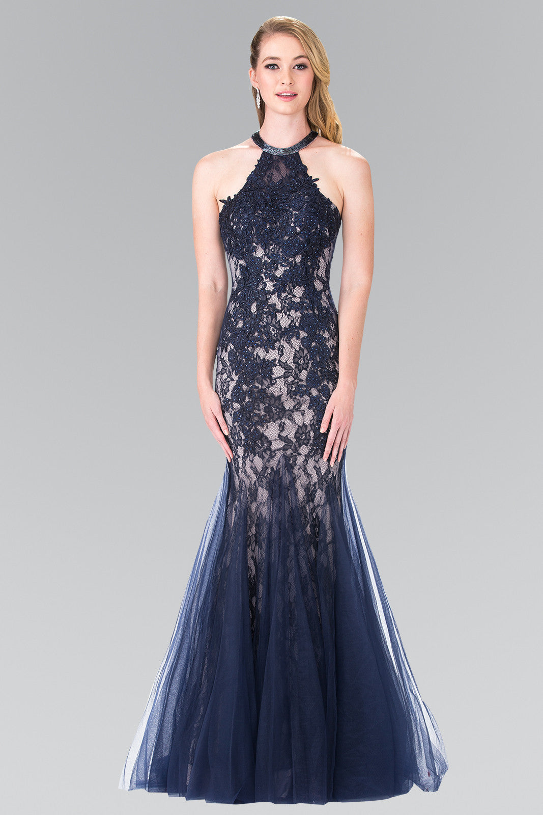 A Mermaid lace tulle prom dress 103-gl2243 – Simply Fab Dress