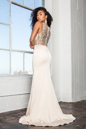 Long 2 piece prom dress  gl2247