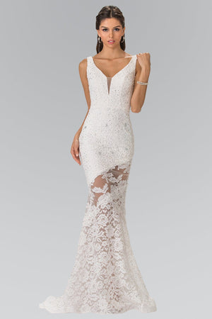 Lace mermaid Prom dress #gl2249