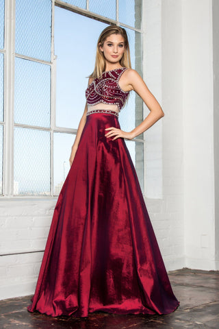 Strapless red quince dress EU#4088