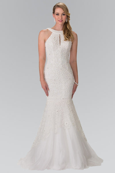 Halter Neckline Casual Mermaid Wedding Dress 103-gl2262 - Simply Fab Dress