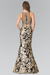 Black gold 2 piece prom dress GLS 2272-Simply Fab Dress