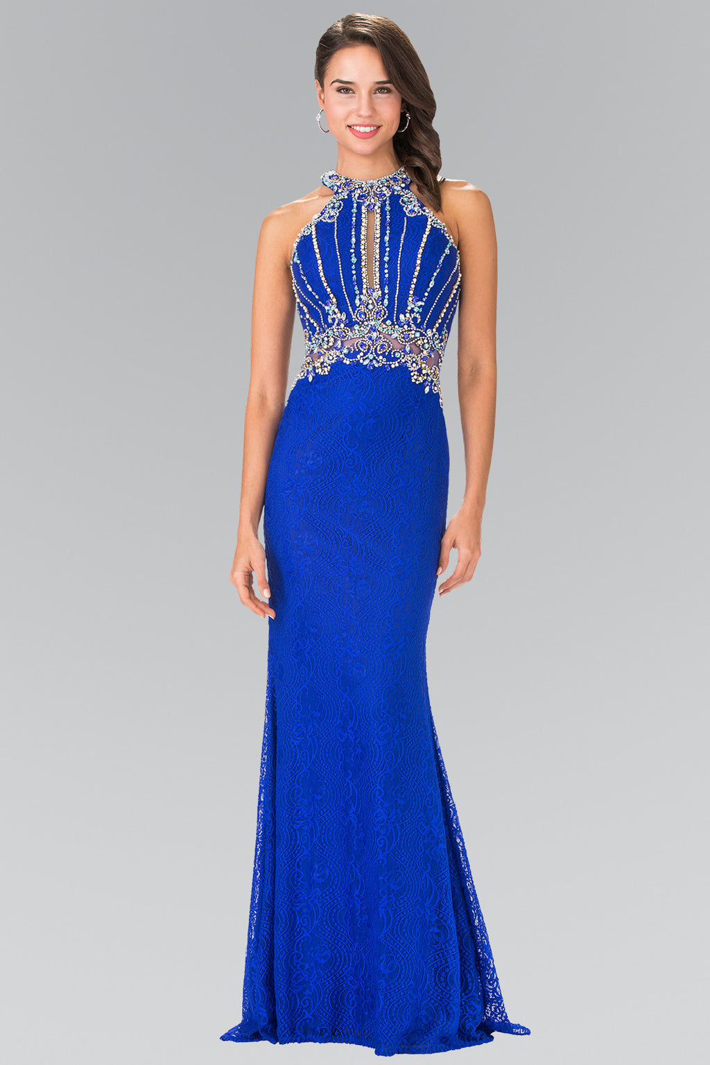 Sparkling beaded fitted lace pageant dress gl2275 Prom dress - Simply Fab Dress