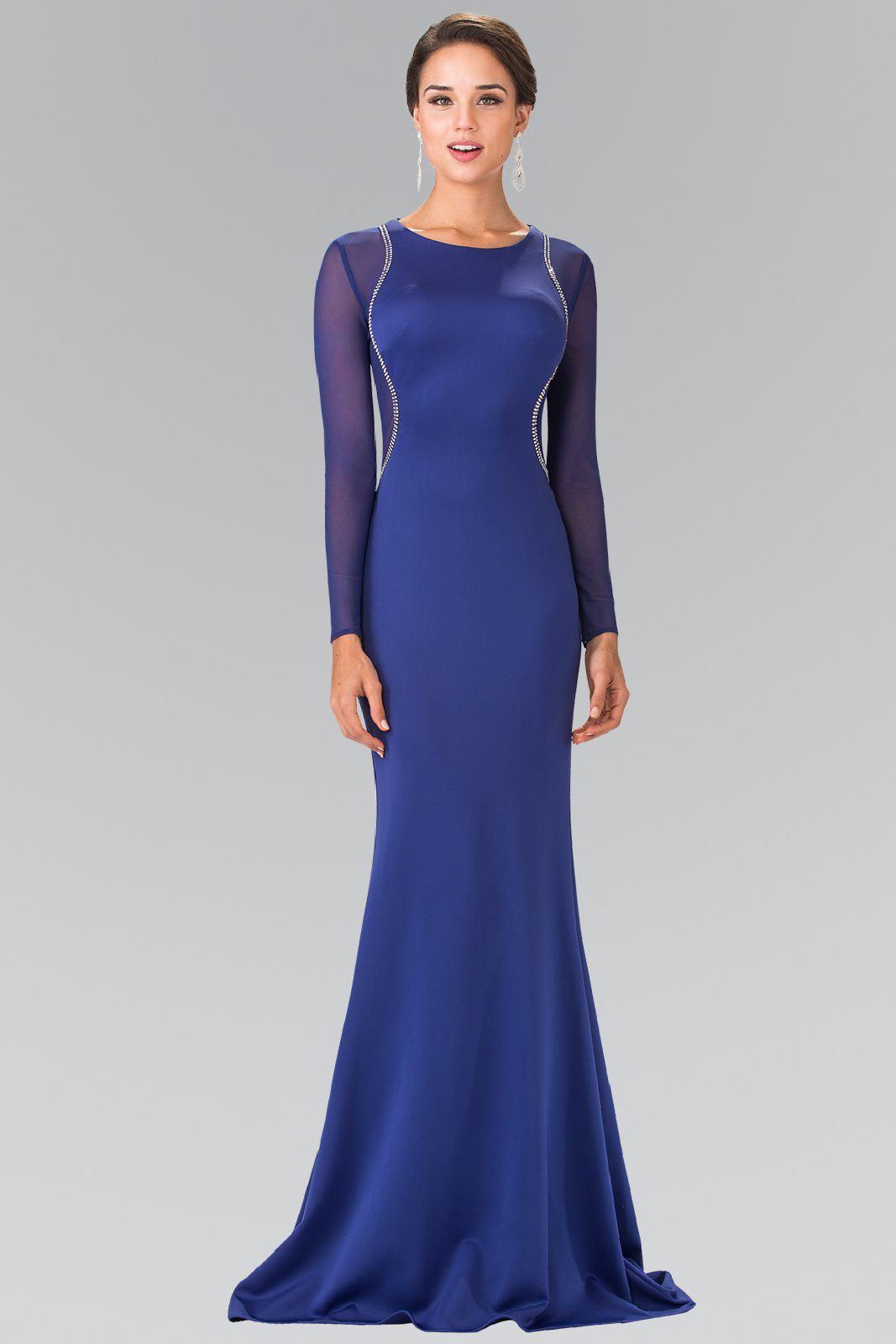 long sleeve black tie formal dress #gl2284 – Simply Fab Dress