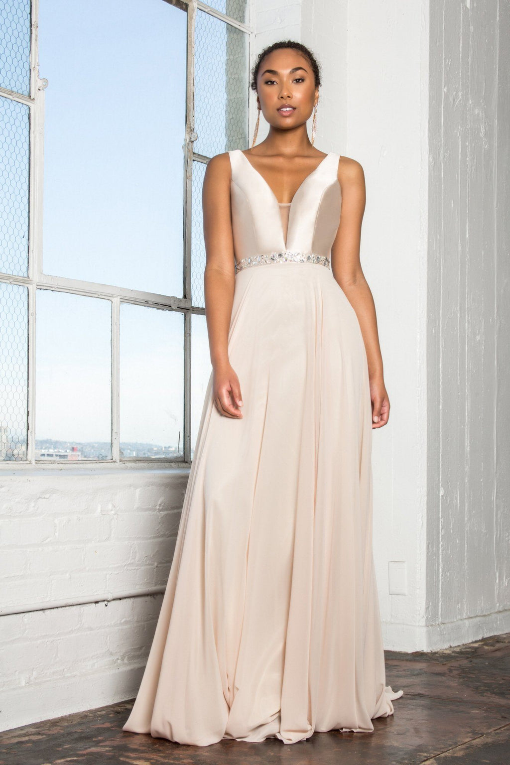 Stunning long chiffon bridesmaid dress #gl2293