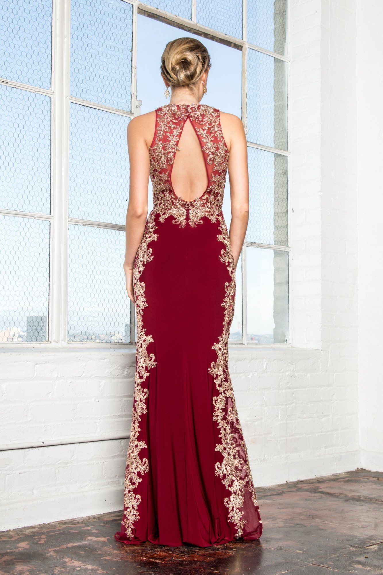 78190004986 Red long evening gown  GL2320. Main menu  Prom Dresses ...