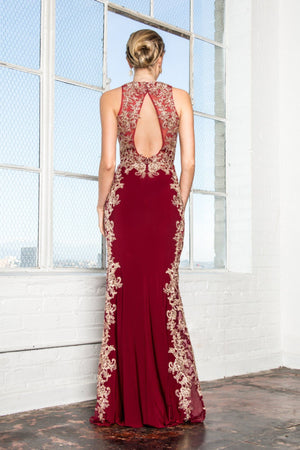 Red long evening gown #GL2320