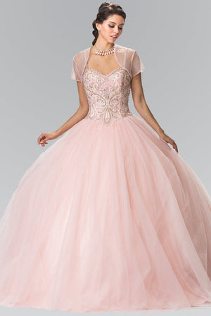 Sparkly quinceanera dress with puffy skirt gls 2350-Simply Fab Dress