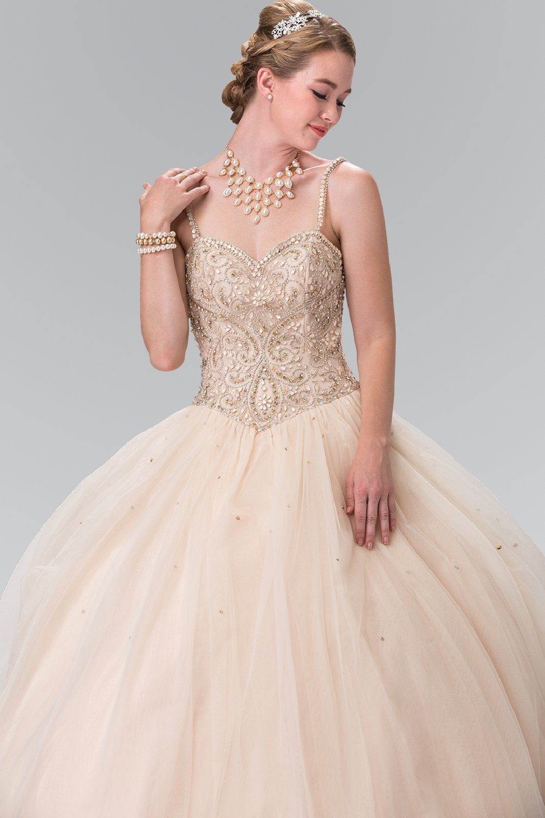 Sparkly quinceanera dress with puffy skirt gls 2350 – Simply Fab Dress
