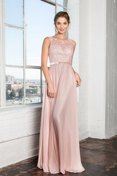 Long chiffon evening dress gown   gls #2364