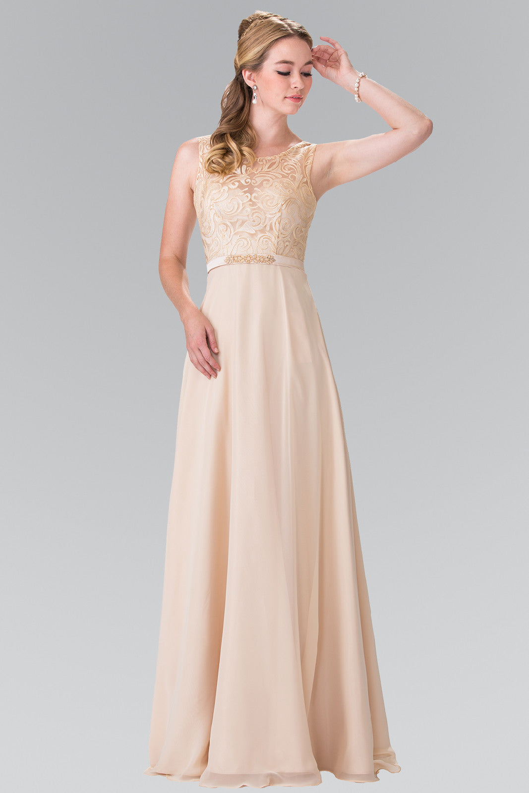 Lace bodice long chiffon bridesmaid dress gl 2364 simply fab dress lace bodice long chiffon bridesmaid dress gl 2364 simply fab dress ombrellifo Choice Image