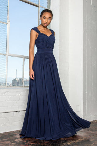 long chiffon bridesmaid dress #gl2366