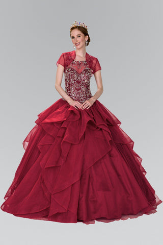 c31dc5524f Ball gown dress with ruffle gls 2378-Simply Fab Dress