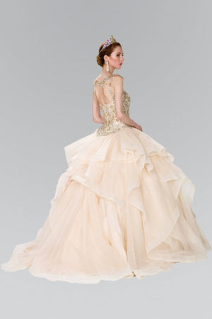 Ball gown dress with ruffle gls 2378-Simply Fab Dress