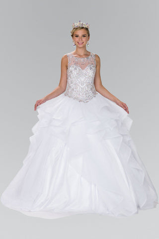 White Quinceanera Dress  DQ1101W