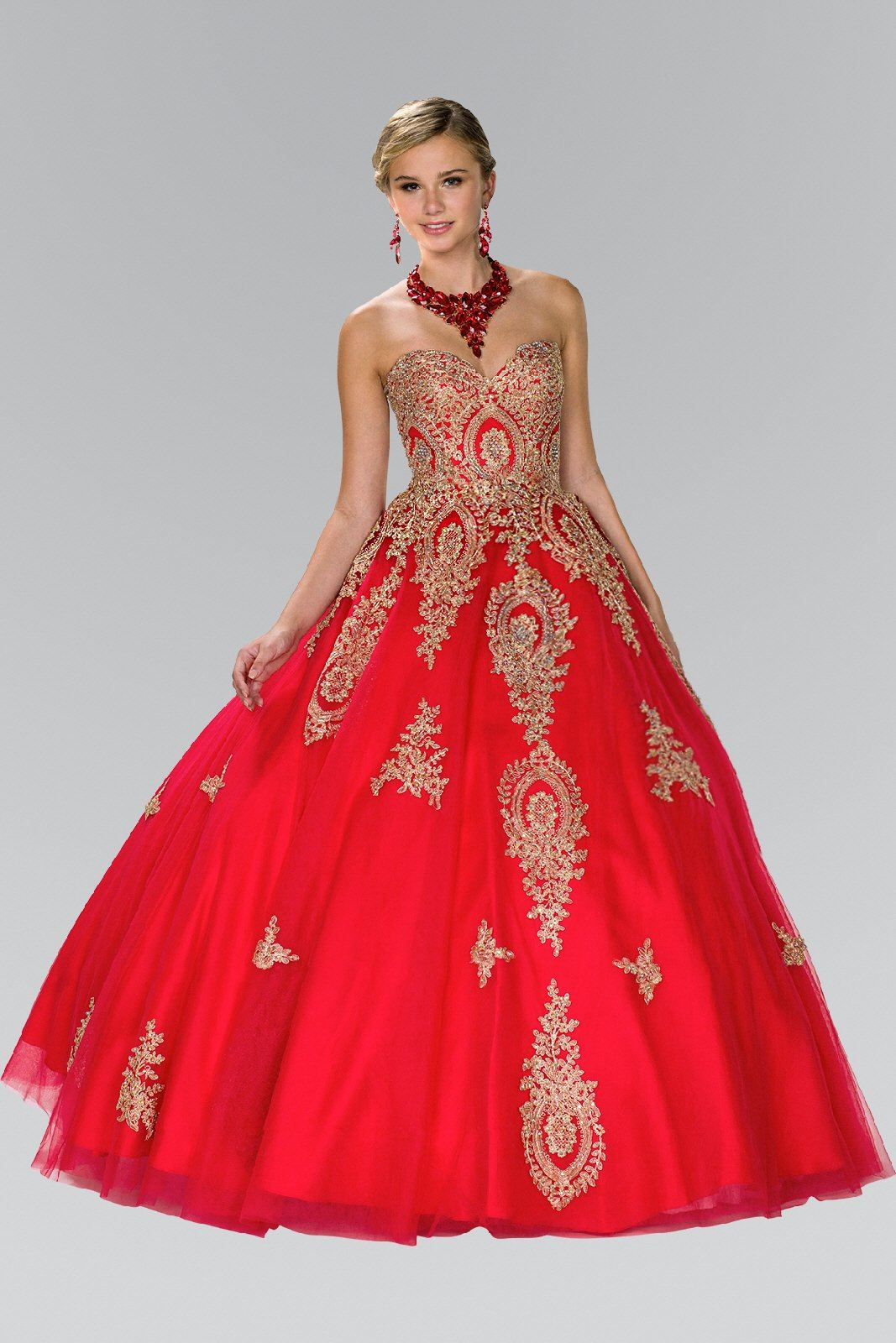 Strapless ball gown prom dress gls 2379 – Simply Fab Dress