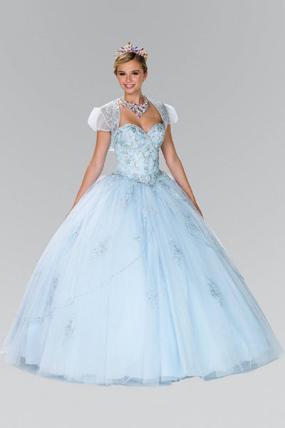 Blue quinceanera princess dress gls 2427-Simply Fab Dress