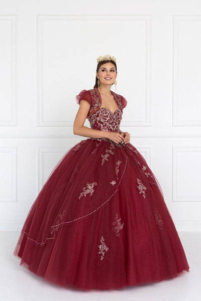 Burgundy quinceanera princess dress gls 2427-Simply Fab Dress